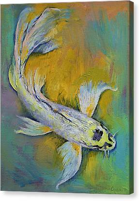 Coy Canvas Print - Kujaku Butterfly Koi by Michael Creese