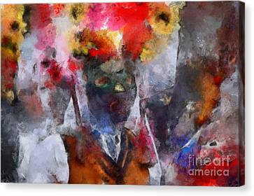 Canvas Print featuring the painting Kuker by Georgi Dimitrov