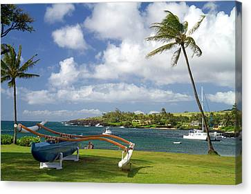 Kukuiula Small Boat Harbor Canvas Print by David R. Frazier