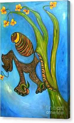 Kula And Pani's Ghost Canvas Print by Mukta Gupta