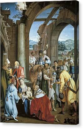 The Sacred Feminine Canvas Print - Kulmbach, Hans S�ss Von 1480-1522 by Everett