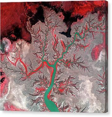 Kumbunbur Creek Canvas Print by Kari/european Space Agency