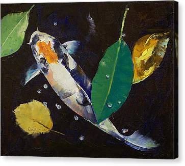 Kumonryu Koi Art Canvas Print by Michael Creese