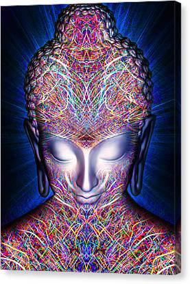 Canvas Print featuring the painting Kundalini Awakening  by Jalai Lama