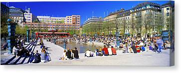 Kungstradgarden Park, Stockholm, Sweden Canvas Print by Panoramic Images