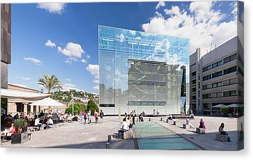 Kunstmuseum Stuttgart Museum Canvas Print by Panoramic Images
