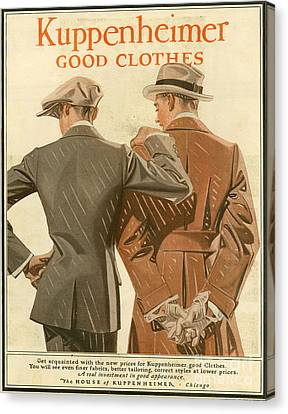 Kuppenheimer  1910 1910s Usa Canvas Print by The Advertising Archives