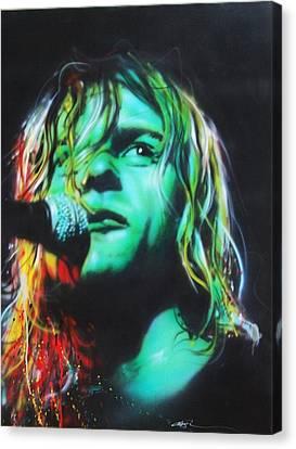 Kurt Cobain - ' Kurdt Kobain ' Canvas Print by Christian Chapman Art