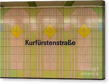 Ubahn Canvas Print - Kurfurstenstrasse by Jannis Werner