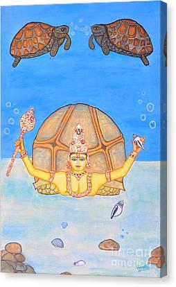 Incarnation Canvas Print - Kurmamurti by Pratyasha Nithin