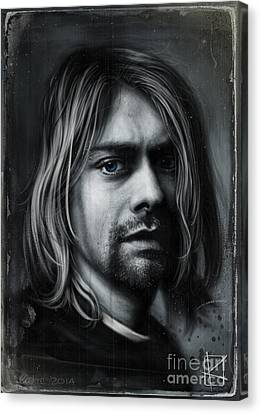 Kurt Cobain Canvas Print by Andre Koekemoer