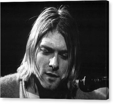 Concert Images Canvas Print - Kurt Cobain Close Up by Retro Images Archive
