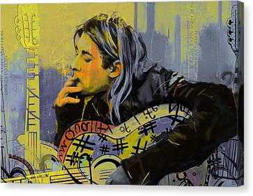 Kurt Cobain Canvas Print by Corporate Art Task Force