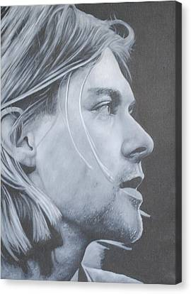 Canvas Print featuring the painting Kurt Cobain by David Dunne