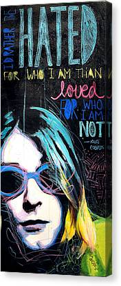 Kurt Cobain Canvas Print by Erica Falke