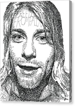 Kurt Cobain Canvas Print by Michael Volpicelli
