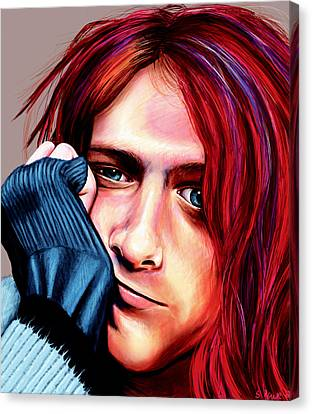 Canvas Print featuring the painting Kurt Cobain by Shawna Rowe