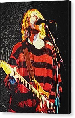 Kurt Cobain Canvas Print by Taylan Apukovska