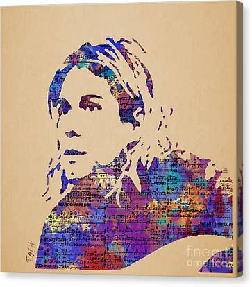 Kurt Cobain Watercolor Canvas Print