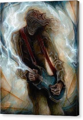 Kurt Cobain Zombie Canvas Print by Robert Anderson