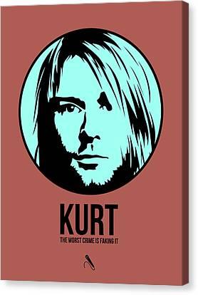 Kurt Poster 2 Canvas Print by Naxart Studio