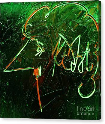 Pallet Knife Canvas Print - Kurt Vonnegut by Michael Kulick