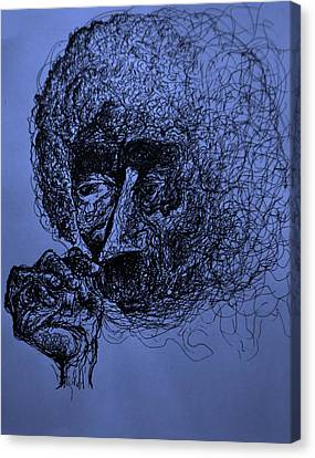 Kurt Vonnegut Canvas Print by Will  Carlson