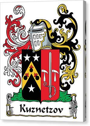 Kuznetsov Coat Of Arms Russian Canvas Print