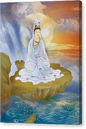 Kwan Yin - Goddess Of Compassion Canvas Print by Lanjee Chee