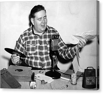 Kya Host cowboy Bob Canvas Print by Underwood Archives