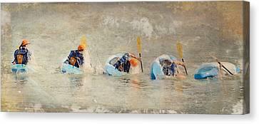 Kyak Canvas Print by Steven  Michael