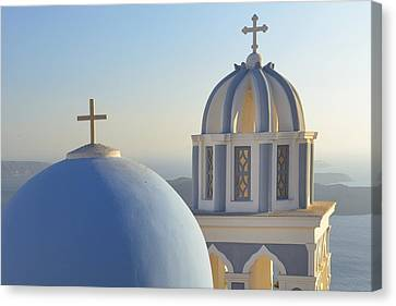 Greek Icon Canvas Print - Kyclades by Christian Heeb