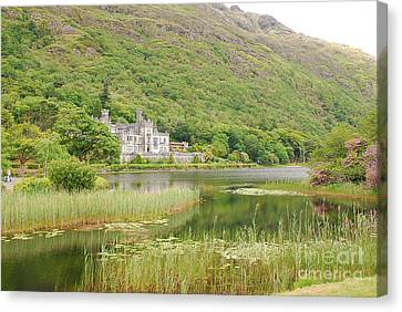 Canvas Print featuring the photograph Kylemore Abbey 1 by Mary Carol Story