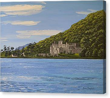 Kylemore Abbey Connemara Co Galway Canvas Print by Diana Shephard