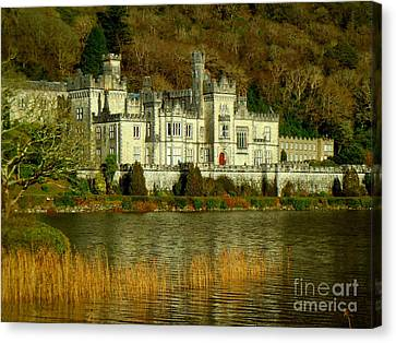 Kylemore Abbey On A Golden Afternoon Canvas Print