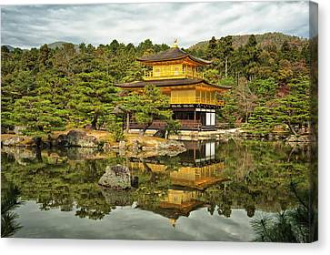 Golden Temple Canvas Print - Kyoto, Japan, Golden Temple by Sheila Haddad