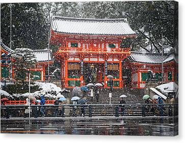 Kyoto Snowfall Canvas Print