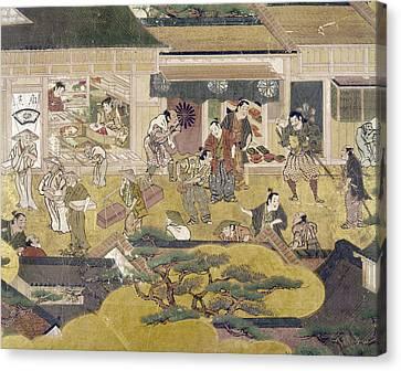 Kyoto Street Scene, C1600 Canvas Print by Granger