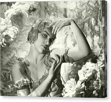 Ballet Dancers Canvas Print - Kyra Nijinsky In Le Spectre De La Rose by Cecil Beaton