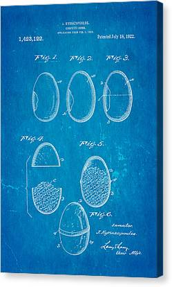 Kyriazopoulos Confetti Bomb Patent Art 1922 Blueprint Canvas Print