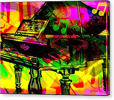 The Grand Place Canvas Print - Mood Changing Medicine Power Of Music by Larry Lamb