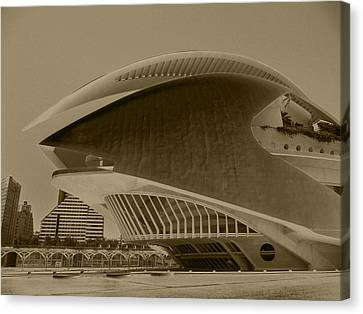L' Hemisferic - Valencia Canvas Print by Juergen Weiss