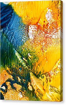 L' Intrus Canvas Print by Anne-Marie Coadebez