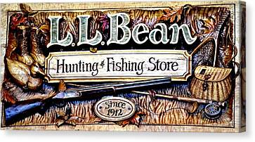 L. L. Bean Hunting And Fishing Store Since 1912 Canvas Print by Tara Potts
