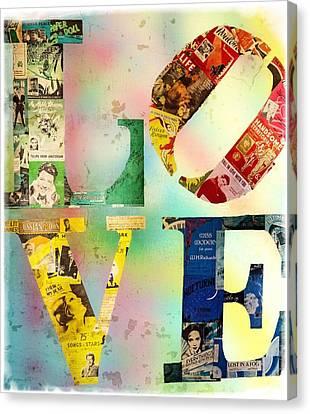 L O V E Canvas Print by Jordan Blackstone