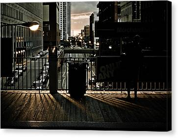 L Platform At Dusk Canvas Print