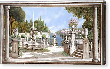 La Bella Fontana Canvas Print by Guido Borelli