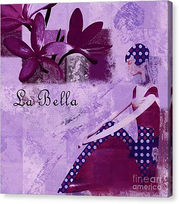 La Bella - Plum - 0640671052-01b Canvas Print by Variance Collections