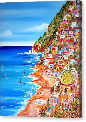 La Bella Positano Amalfi Coast Canvas Print