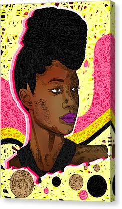 La Belle Tia Canvas Print by Kenal Louis